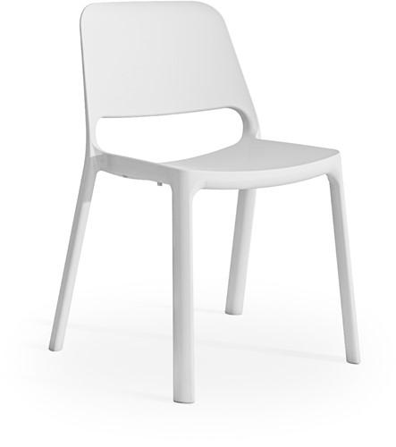 Kasper - kunststof school/ kantine stoel - Wit (BI)