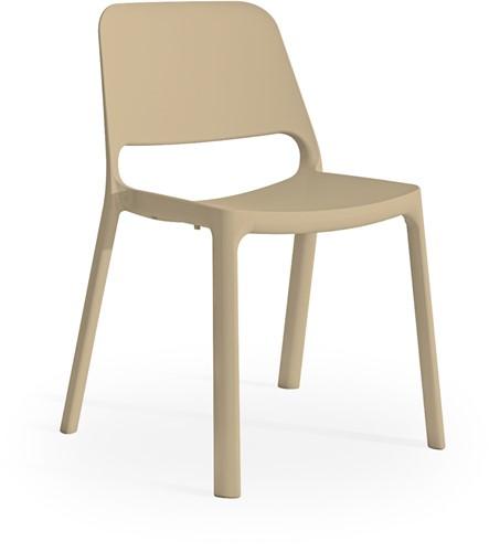 Kasper - kunststof school/ kantine stoel - Zand (SA)