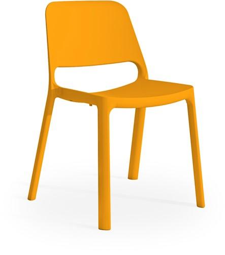 Kasper - kunststof school/ kantine stoel - Oranje (AR)