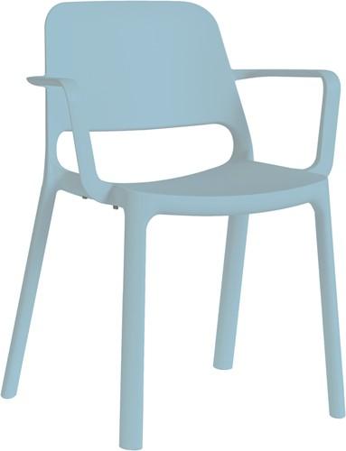 Kasper armstoel - kunststof school/ kantine stoel - Blauw (BL)