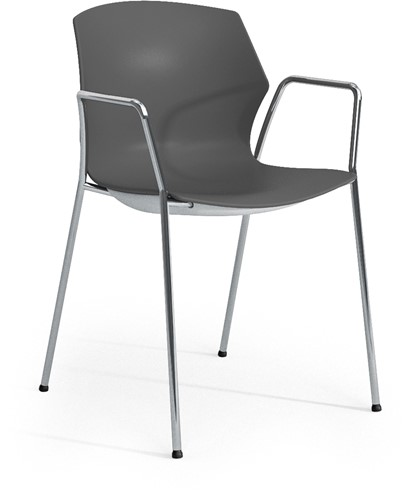 No-Frill arms - kunststof kantine stoel met armleggers-2