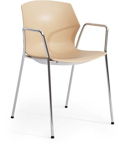 No-Frill arms - kunststof kantine stoel met armleggers-3