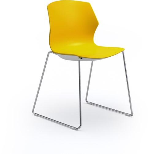 No-Frill SL - kunststof kantine stoel met slede frame-2