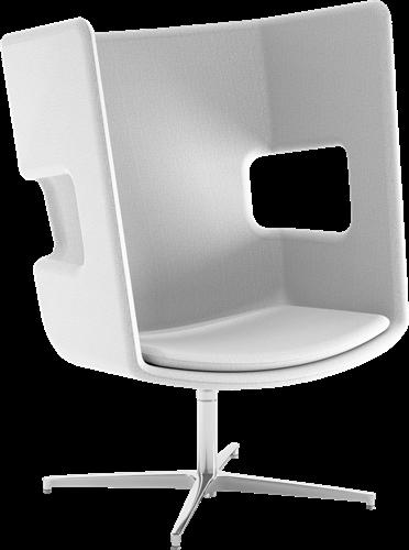 Peyo FL/4 Lounge - gestoffeerde oorstoel, overleg fauteuil, draaibaar-2