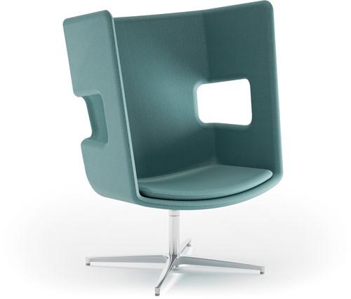 Peyo FL/4 Lounge - gestoffeerde oorstoel, overleg fauteuil, draaibaar