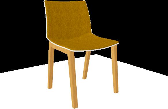 Point maxi wood full stoel met brede volledig gestoffeerde