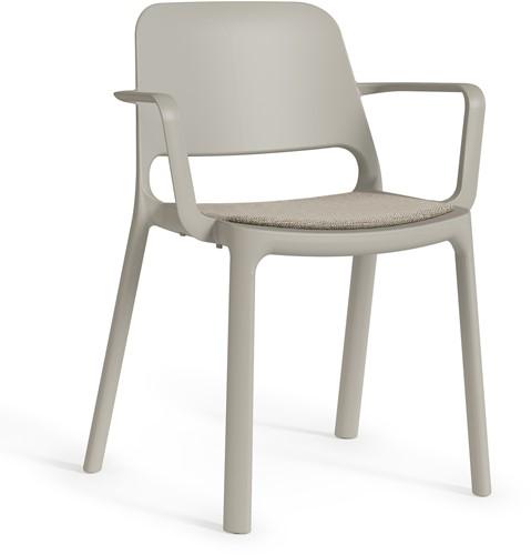 Kasper armstoel - kunststof school/ kantine stoel - Zand (SA)