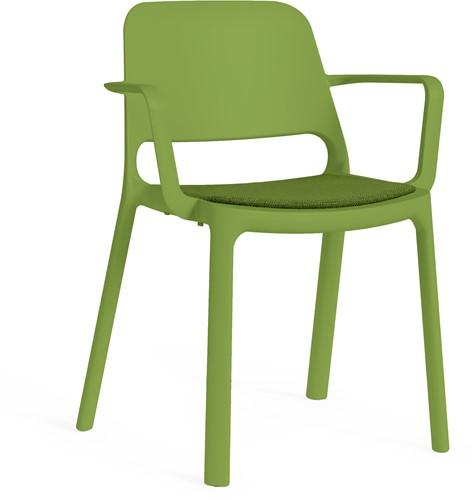 Kasper armstoel - kunststof school/ kantine stoel - Groen (VE)