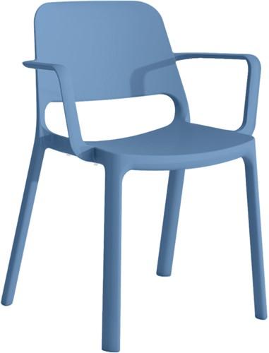 Kasper Eco Armstoel - kunststof school- / kantine stoel van gerecycled kunststof