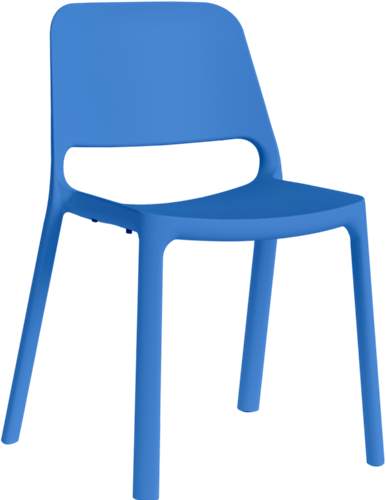 Kasper Eco - kunststof schoolstoel / kantine stoel van gerecycled kunststof