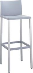 Kevin 75 - buiten kruk met kunststof zitting en aluminium frame