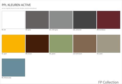 Kleurenoverzicht Active stoelen