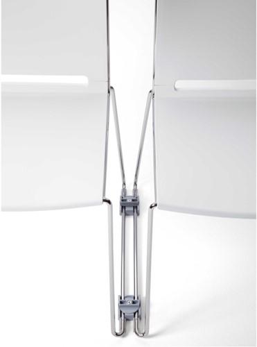 AC631 - Koppeling voor 11 mm draadframe,  kunststof lichtgrijs, kort