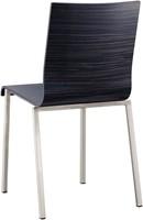 Kuadra 1321 - houten stoel met vierkant buisframe-2