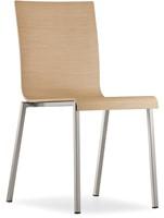 Kuadra 1321 - houten stoel met vierkant buisframe