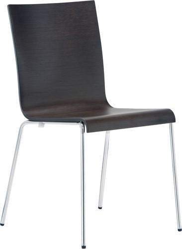 Kuadra 1331 - stoel met houten zitting