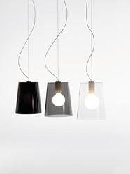 L001S/A - hanglamp met smalle kunststof kap