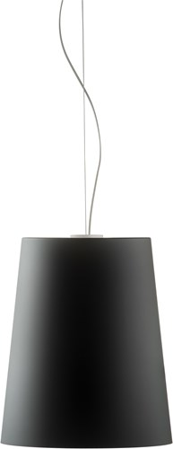 L001S/A soft touch - hanplamp met smalle mat afgewerkte kunststof kap