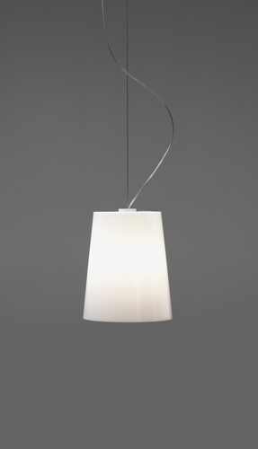L001S/A - hanglamp met smalle kunststof kap-2