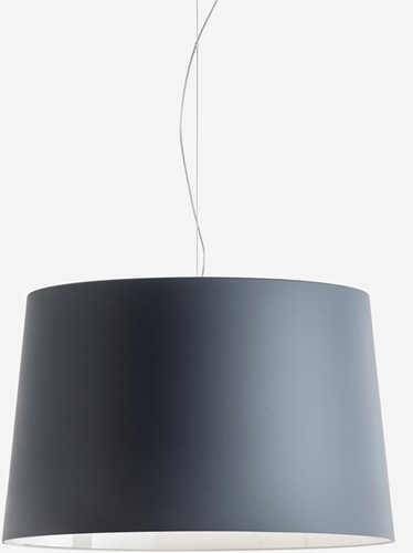 L001S/B soft touch - hanglamp met brede mat afgewerkte kunststof kap