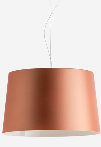 L001S/B soft touch - hanglamp met brede mat afgewerkte kunststof kap-2