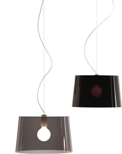 L001S/B - hanglamp met brede kunststof kap