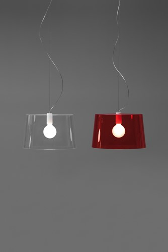 L001S/B - hanglamp met brede kunststof kap-3