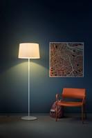 L001ST/BA - Staande lamp met een smalle en brede kunststof kap-2