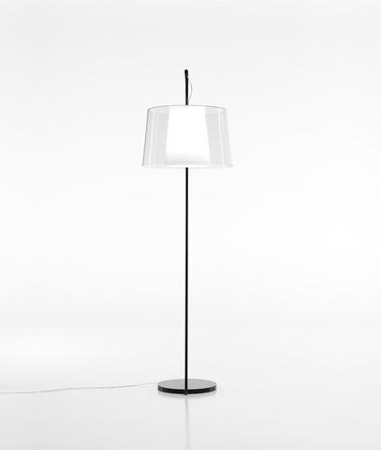 L001T/BA - staande Z-lamp met een smalle en brede kunststof kap-2