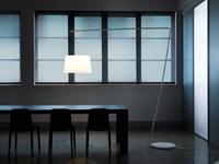 L001T/B - staande Z-lamp met brede kunststof kap-2