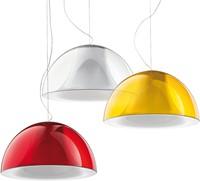 L002S/BA - hanglamp met half ronde kunststof kap