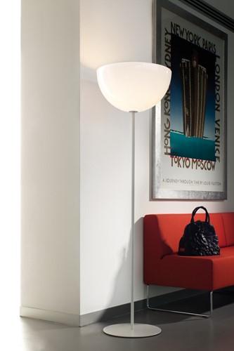 L002ST/BA - staande lamp met half ronde kunststof kap-2