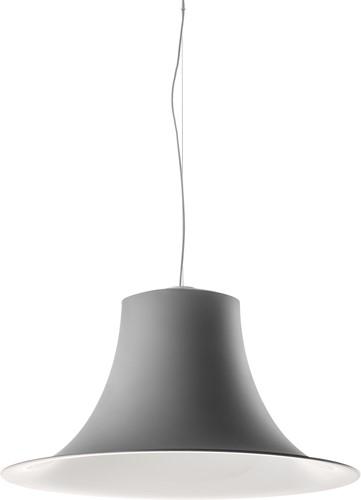 L004S/A soft touch - hanglamp met mat gespoten trompetvormige kap