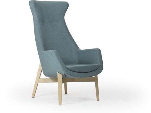 Loïs 3803/2 - gestoffeerde ontvangst / lounge fauteuil met houten frame