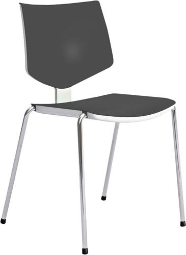 Loola - 2-kleurige kunststof kantine stoel