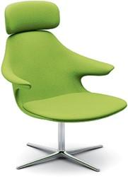 Loop Lounge-HR - comfortabele ontvangst / lounge fauteuil met hoofdsteun