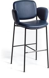 Macka ST 1050 - Gestoffeerde kruk met ruime zitschaal en vierpoot buisframe