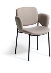Macka 1050 - Gestoffeerde stoel met ruime zitschaal en vierpoot buisframe
