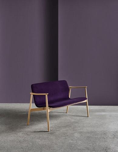 Butterfly MO5381 Lounge BANK Classic - Magnus Olesen loungebank met armleggers, frame massief hout, zitschaal volledig gestoffeerd-3