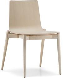 Malmö 390 - houten stapelbare stoel in scandinavische stijl
