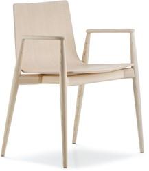 Malmö 395 - houten stoel met armleggers in scandinavische stijl. FSC 100% gecertificeerd