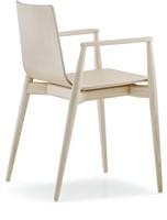 Malmö 395 - houten stoel met armleggers in scandinavische stijl. FSC 100% gecertificeerd-2
