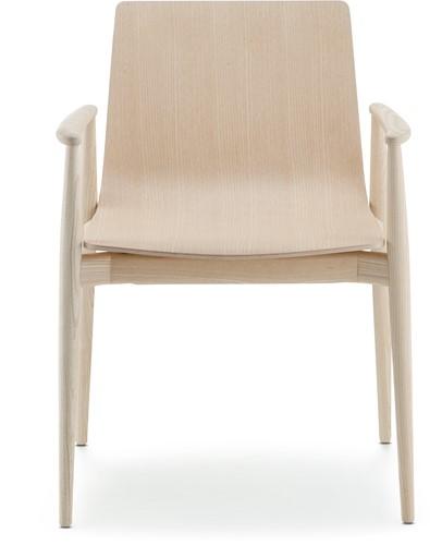 Malmö 395 - houten stoel met armleggers in scandinavische stijl. FSC 100% gecertificeerd-3