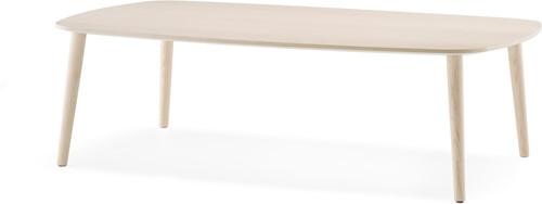 Malmö MLT - scandinavische style langwerpige salontafel met 4 essen houten poten en gefineerde bladen