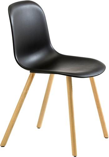 Mani 4WL 963 - vriendelijk vormgegeven kunststof stoel met houten poten