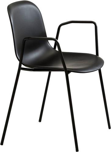 Mani AR 959 - vriendelijk vormgegeven kunststof stoel met armleggers