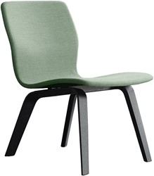 Butterfly Lounge Wood - Magnus Olesen loungestoel gestoffeerde, frame massief hout, zitschaal volledig gestoffeerd