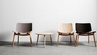Freya MO4731 Lounge WOOD-Front - Magnus Olesen houten loungestoel, frame eiken of beuken, zitting gestoffeerd en rug opdekstoffering-3