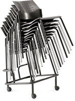 A40 Kunststof Armstoel - Budgetstoel met armleggers rug en zitting kunststof, frame chroom-3