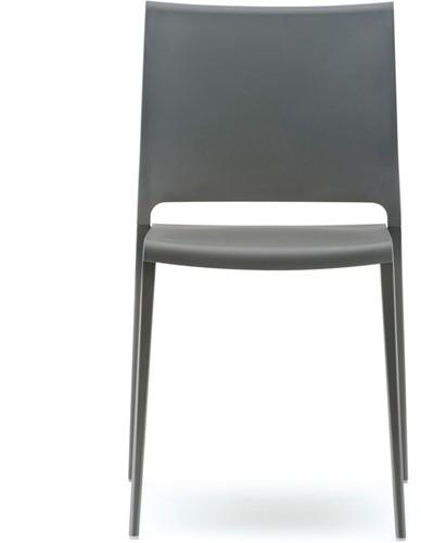 Mya 700 -  kunststof stoel met aluminium poten-2